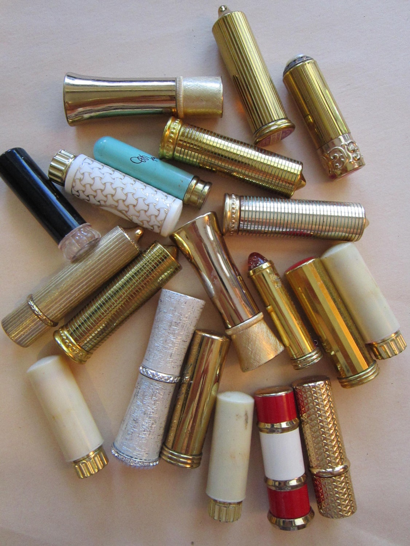 20 Vintage Lipsticks Lipstick Tubes Revlon Avon By