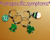 St. Patrick's Day Drink Glass Charms (#3)