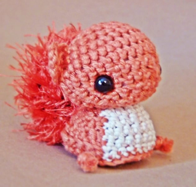 Amigurumi Squirrel Crochet Pattern : Amigurumi pattern Peanut the squirrel INSTANT by Lapetite2101
