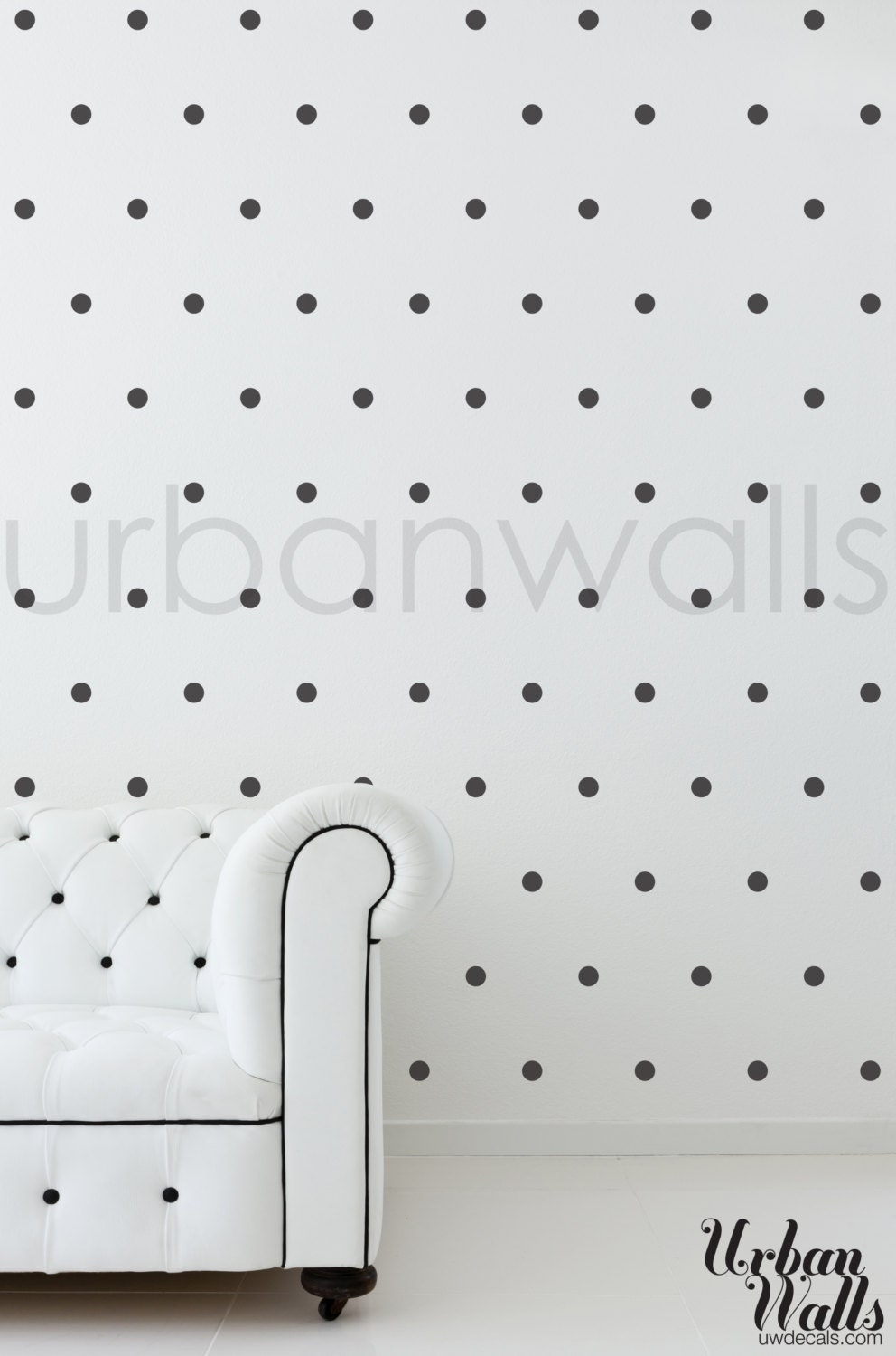 vinyl wall sticker decal art small polka dots. Black Bedroom Furniture Sets. Home Design Ideas