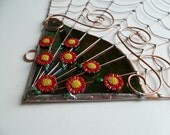 Reserved for Lisa Large Handmade Spiderless Corner Web Elegant Garden
