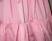 """PINK Mori cupcake skirt double tier extra full bottom ruffle petticoat plus size free size up to 60"""""""
