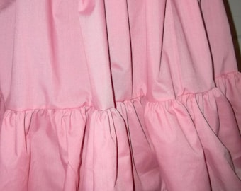 PINK Mori cupcake skirt double tier extra full bottom ruffle petticoat plus size free size up to 60""