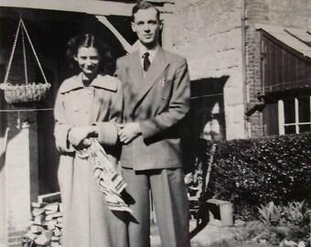 Black & White Photo - Vintage Couple 1950's