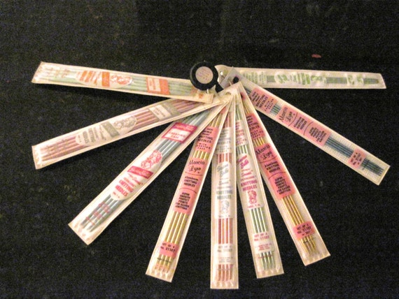 Knitting Needle Sizes Old And New : Vintage knitting needles aluminum double pointed by