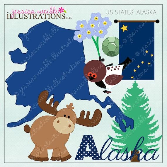 alaska cute digital clipart for invitations by jwillustrations