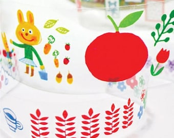 2 Set - Fruit Nature Illustration Adhesive Tapes (0.8in & 1.6in)