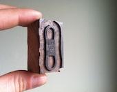 Vintage Wooden Letterpress Printer's Block - Gates Truflex V Belt
