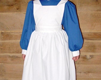 WeHaveCostumes Historical Pioneer Costume  Clara Barton Nightingale -Royal Civil War Nurse- Child sizes up to 14