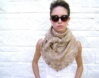 Parchment Shawl Knitting Pattern - Easy Pattern