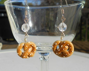 Polymer Clay Pretzel Earrings