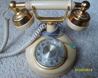 Dial Telephone, Western Electric Desk Dial phone, Vintage Phone, Old Telephone