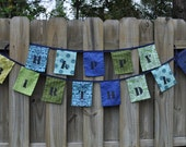 ON SALE!  Homemade Fabric Happy Birthday Bunting/Garland