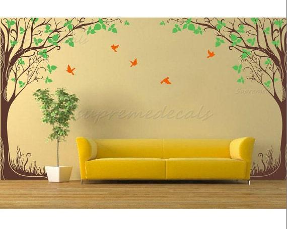 "custom for SunnyandBreezy  - Twin fantasy trees(102""H)"