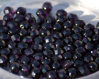 10 pieces of tanzanite 8 mm fire polished czech crystal beads (CZ08-68)
