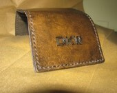 Men's Leather Personalize Custom Trifold Wallet with Chain
