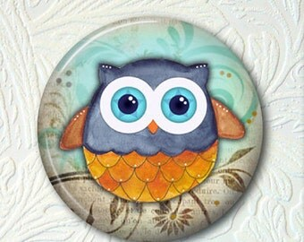 Pocket Mirror Owl - 2.25 Inch - Comes With A Velour Pouch - Buy 3 Get 1 Free  334