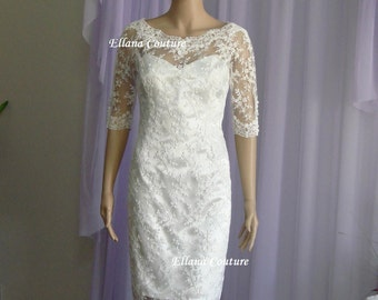 Sample SALE. Vintage Inspired Wedding Dress. Elegant and Sophisticated.