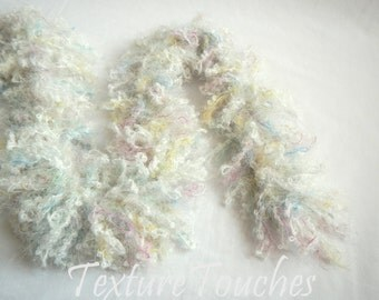 Puffy Loopy White Pastel Baby Boa Photo Prop in Angel Hair colors