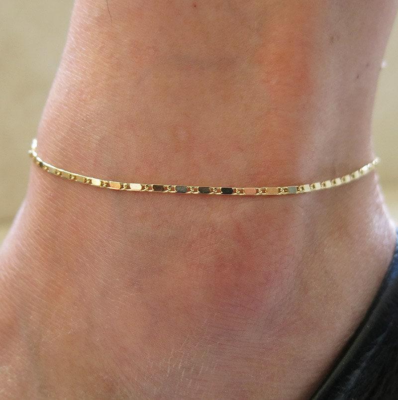 delicate anklet gold chain anklet leg bracelet anklet by
