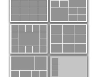 INSTANT DOWNLOAD - Photography 16x20 Storyboard Blog Board Template Collection, Square Corners - set of 6 - 0583