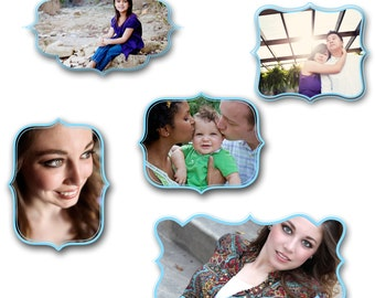 INSTANT DOWNLOAD -  Digital Photoshop Frame Collection for photographers - Vol 3, 0613