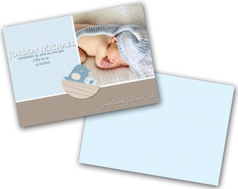 INSTANT DOWNLOAD - Birth announcement photo card template, 5x7 card - 0235