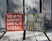 Baseball football sports basketball soccer FOUR SEASONS  personalized SPORTS wood sign kids home decor personalized gift