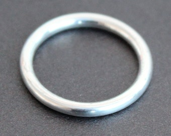 2mm Sterling Silver Round Ring Band - UNISEX
