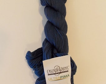 Cascade Yarn 100% Pima Cotton Indigo Blue 3793