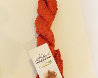 Cascade Yarn 100% Pima Cotton  Paprika 3771