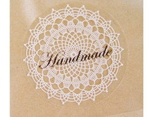 Fancy Lace DOILY Deco STICKERS / LABELS - 8 no. 1.5 inch -for Scrapbooking, Packaging, Wedding Invitation. and more...
