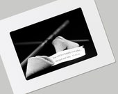 Personalized Fortune Cookie Card- Folded with Envelope- Your Own Message on Image- Gift of Art for Valentine, Wedding, Anniversary
