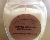 Energizing Lemon Verbena Soy Candle - 14 Ounce