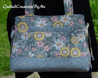 Quilted Bag Purse Handbag  Bow  Style   Bag Purse Handbag Tote by QuiltedCreatonsByMe