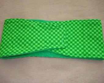 Male Dog Diaper - Belly Band - Green Checks - Available in all Sizes