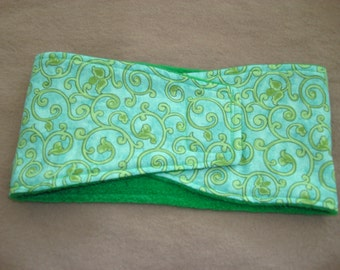 Male Dog Diaper - Belly Band - Green Swirls - Available in all sizes