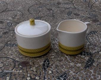 Vintage Ceramic Sugar Bowl and Creamer - Royal M -  Catalina by Maturo - Japan