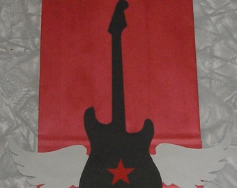 Rock Star Treat Sacks - Rocker Rock N Roll Guitar Theme Birthday Party Favor Bags by jettabees on Etsy