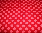 Ta Dots Geranium Fabric by Michael Miller - 1 Yard