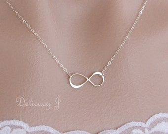 Infinity necklace, Infinity jewelry, Eternity necklace, Bridesmaid gift, Bridal party Weddings, Mother day gift, Everyday jewelry, Figure 8