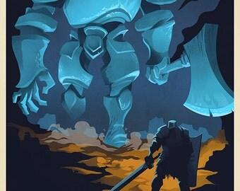 IRON GOLEM Video Game Art Poster