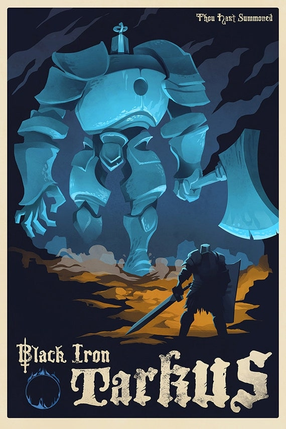 IRON GOLEM Video Game Art Poster