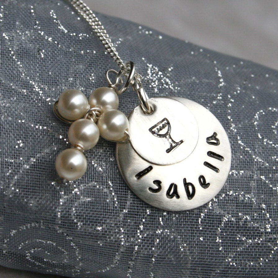 First Communion Necklace Communion Jewelry With Pearl Or