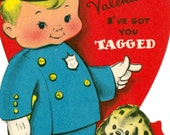 Vintage Children's Classroom Valentines Day Card (053)