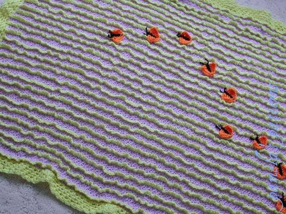 """Crochet 3D Pattern, PDF Blanket Pattern, Afghan with Butterflies, 44"""" x 36"""" (112 cm x 91 cm) approx"""
