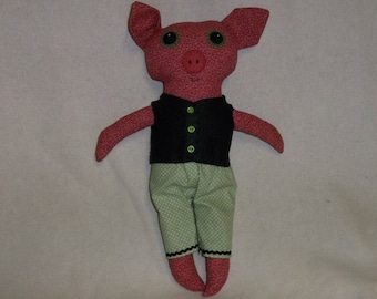 Augustus the Big Eyed Pig Doll