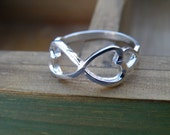 75% off enter LOVE2016.  Infinity Ring, Christmas Gift, Best Friend Ring, Valentine's Day Ring, Infinity