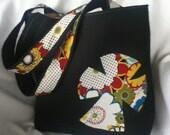 Large Burlap Tote/Church Bag/School Tote/Library Bag
