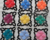 Granny Squares colorful crochet - for the blankets, throws to make